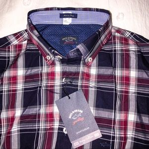 PAUL & SHARK Woven 100% Cotton Shirt